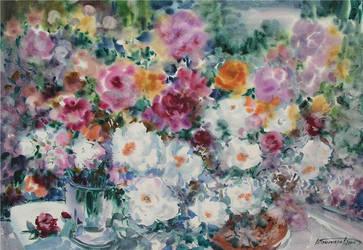 White Flowers by Ponikarov