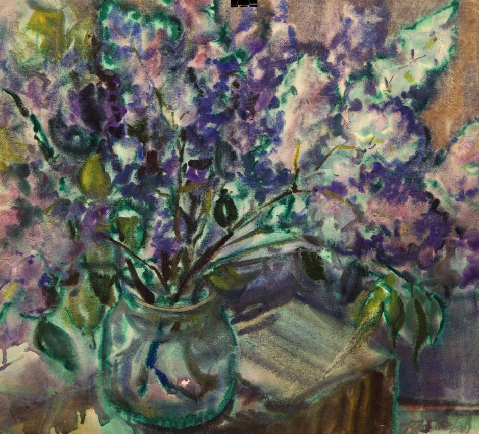 Purple flowers by Ponikarov