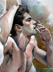 I Dont Belong To You. Watercolor 30x40 cm. by Alifranco