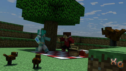 A Picnic with a Friend - Minecraft by xcoudGaming