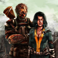 Fallout 3 - Charon and Alice by VortexQueen