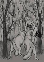 Wolf momma by DesigningLua