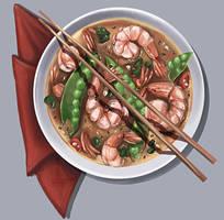 Prawn soup by DesigningLua