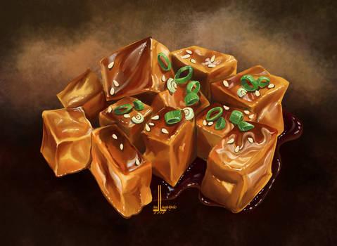 Tofu soy sauce by DesigningLua