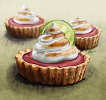 Strawberry tart by DesigningLua
