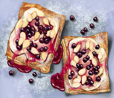Blueberry puff tart by DesigningLua
