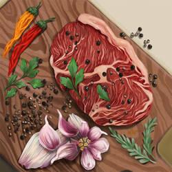 Raw meat by DesigningLua