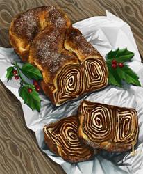 Chocolate babka by DesigningLua