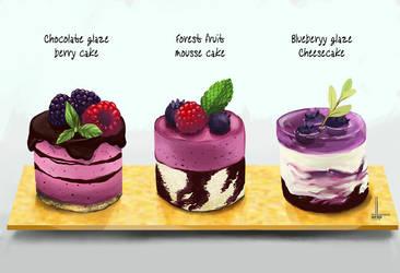 Choice of bite sized desserts by DesigningLua