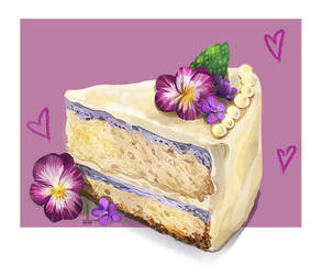 Violet Cake by DesigningLua