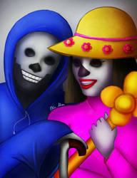 Alpha Bones And Catrina by AkiraAlion