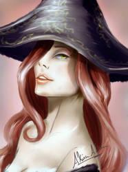 Miss Fortune Portrait by AkiraAlion