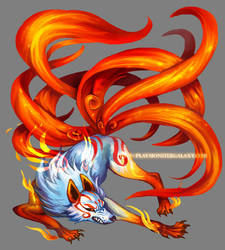 Nine Tailed Fox by Derlaine8