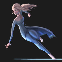 Elsa character concept art by frostharmonic