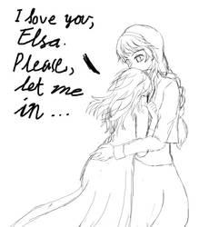 ElsAnna Morning Confession Let Me In Line Art by Shizuru1412