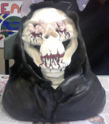 Death / Grim Reaper Sculpture (painted) by MagnificentCookie