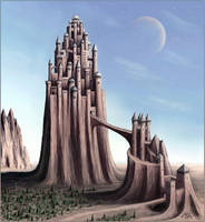 Strange cities 2 - Castle hill by Astalo