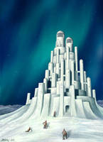 Arctic snowcastle by Astalo
