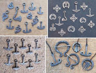 Forged steel pendants 1 by Astalo