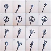 Hair pin designs by Astalo