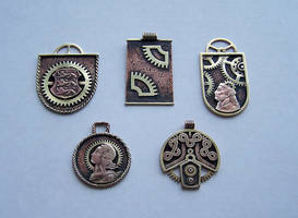 Clockpunk pendants 2 by Astalo