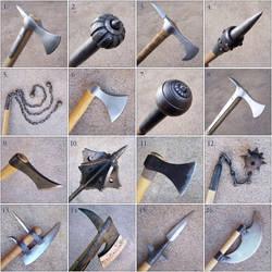 Weapon closeups by Astalo