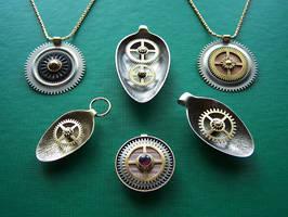 Clockpunk pendants 9 by Astalo