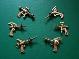 Raygun pendants by Astalo