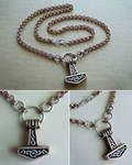 Mjolnir from bronze and silver by Astalo