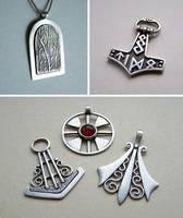 Silver jewelry 5 by Astalo
