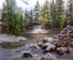 Winter Stream by MountainInspirations