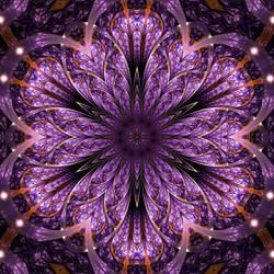 Flower fractal mandala by KeilaNeokow