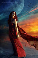Girl in the Sunset by RankaStevic