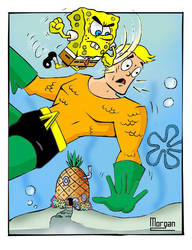 Spongebob VS Aquaman by MysticMorgan