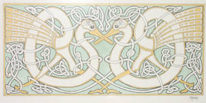 celtic swans by strawberrymaya