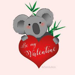 Be my Valentine Koala by Zerolution