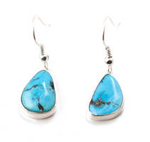 Turquoise Drop Earrings by SoulStoneDesigns