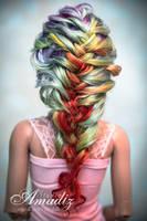 Rainbow braid back by amadiz