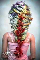 Rainbow braid back by amadiz