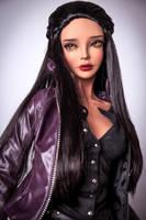 Virginia Fragile Beauty in a black custom wig by amadiz