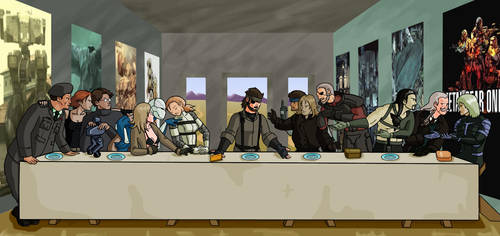 Metal Gear Solid:  The Last Supper by SuperDouma
