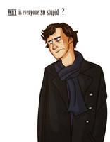 Annoyed Sherlock by pinkwater1211