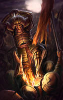 Angry Fireman Samurai by masz-rum