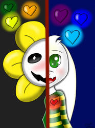 Asriel and Flowey (Request) by PinkyPie25800