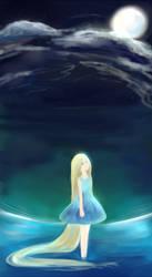 night ocean by kaetyuki