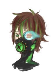 green mask by kaetyuki