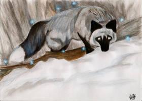 Winter Faerie fox by shadowlotr