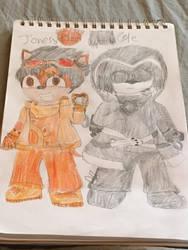 Sonic OC Redesigns 5/5: Jonesy and Cole  by SlyZeke101