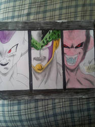 Frieza, cells and buu by NyxGodlike