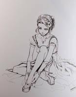 INKTOBER 2016 : Cinderella by Sophie-Dreamy